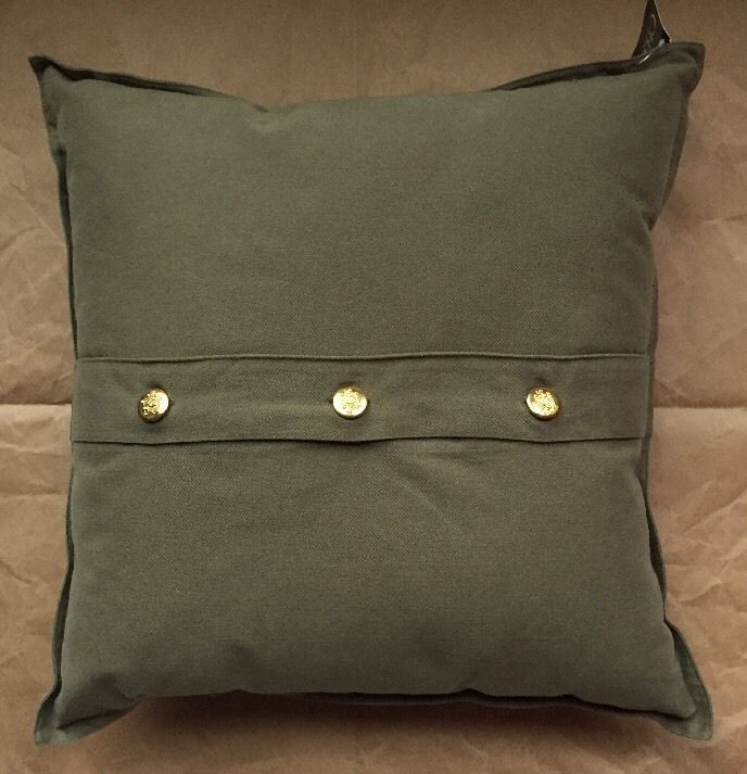 "New CHAPS Home BEEKMAN PLACE 40""x40 SAFARI Throw Pillow Green W Gorgeous Beekman Home Decorative Pillow"