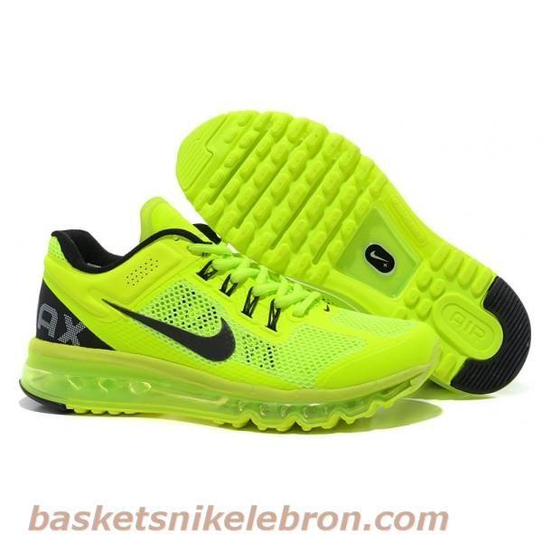Pas cher Nike Air Max 2013 Homme Neo vert de chaux Noir Air Max Homme