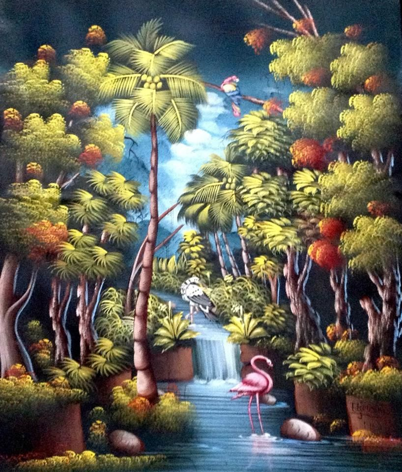 Wonders of a Forest ~ by Haitian Artist, Etienne