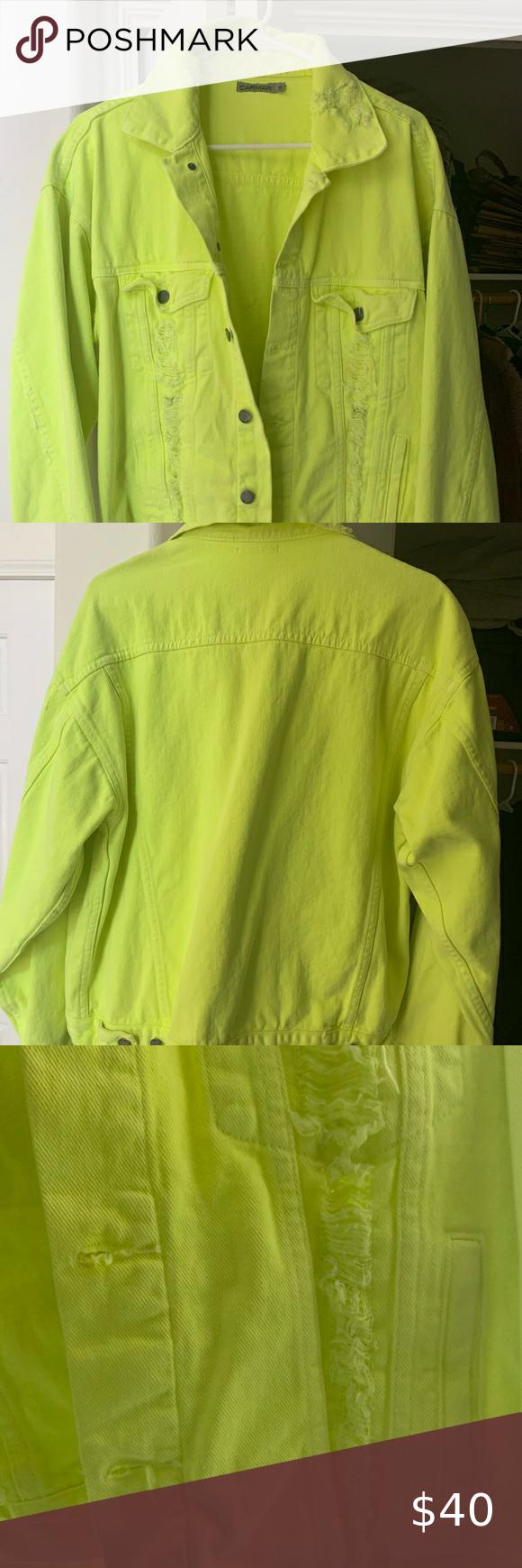 Neon Green Jean Jacket Lf Carmar Lime Green Jean Jacket Never Been Worn Lf Jackets Coats Jean Jackets Green Jean Jacket Green Jeans Jean Jacket [ 1740 x 580 Pixel ]