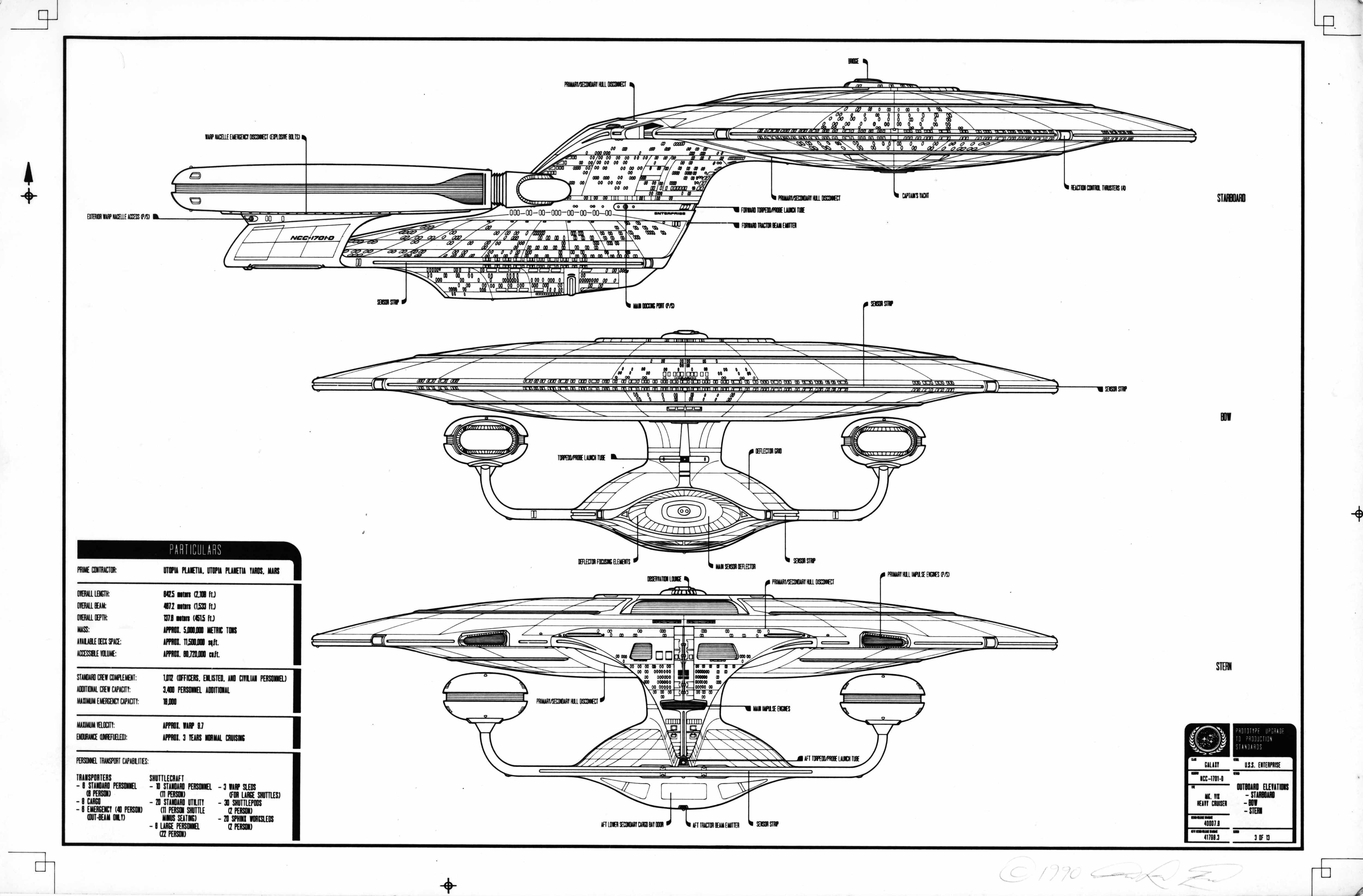Uss enterprise ncc 1701 d galaxy class saucer separation r flickr - Star Trek Blueprints Google Search Uss Enterprise Ncc 1701star