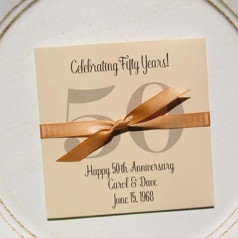 Golden Wedding Anniversary Favors | Anniversary favors, Favours and ...