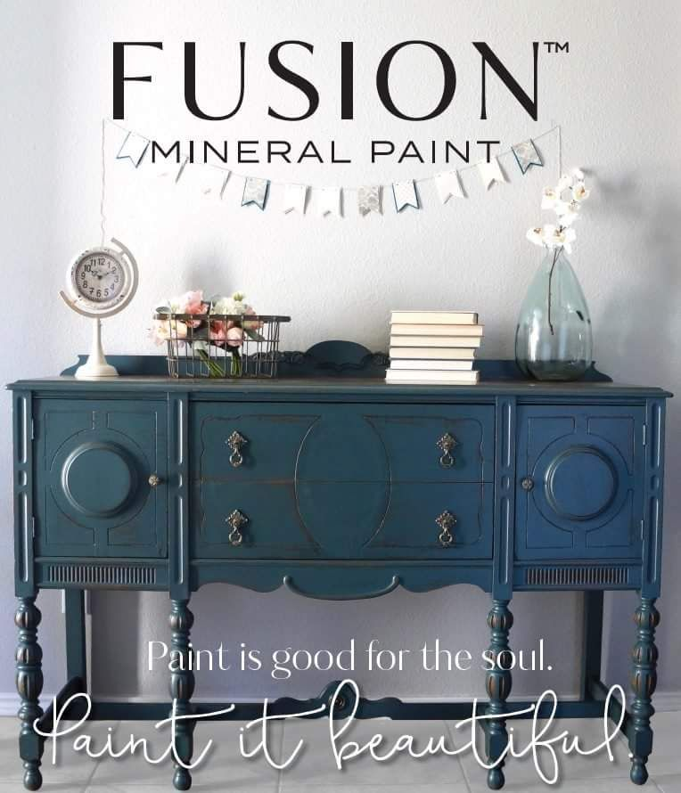 Our Buffet In Homestead Blue By Fusion Mineral Paint