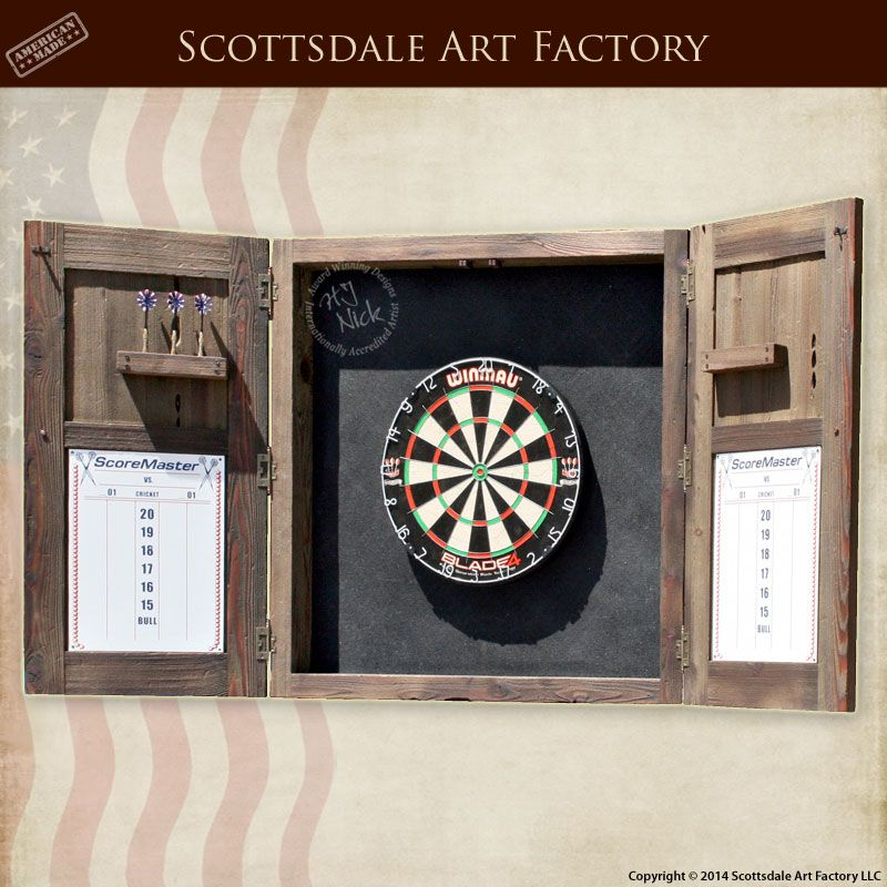 Etonnant Custom Dart Board Cabinet Handmade By Scottsdale Art Factory