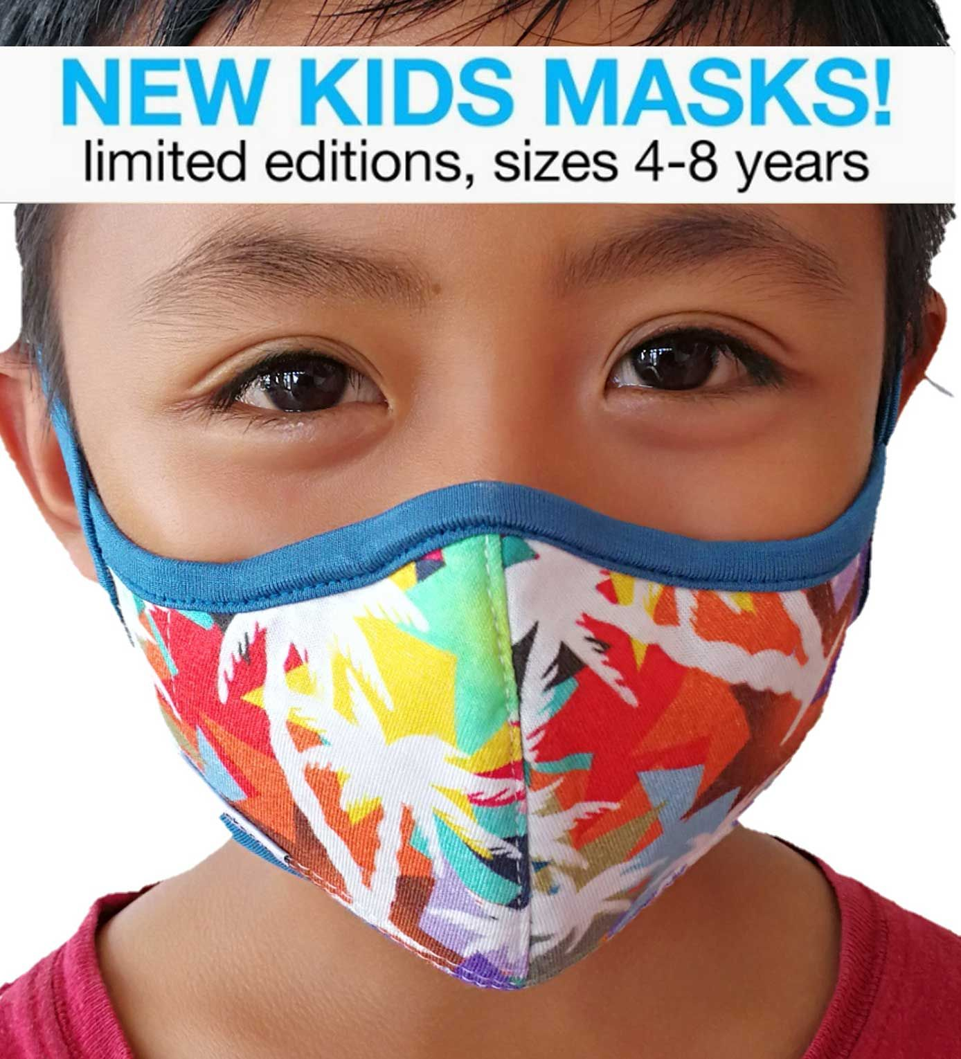 New Kids protective face masks for 4 to 8 of age. N95