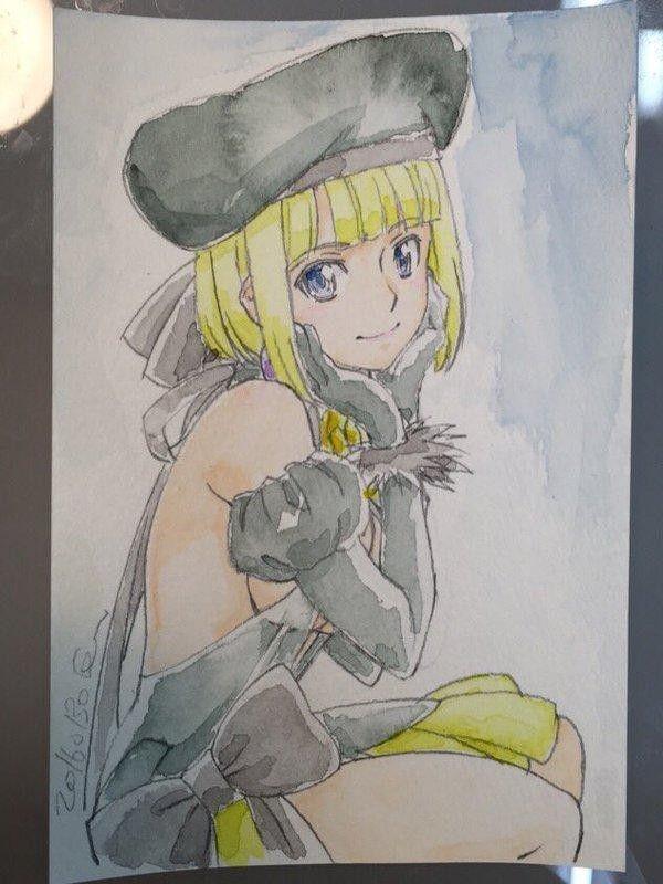 dessin manga aquarelle