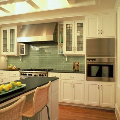 Bottle Green Subway Tile Design Pictures Remodel Decor And