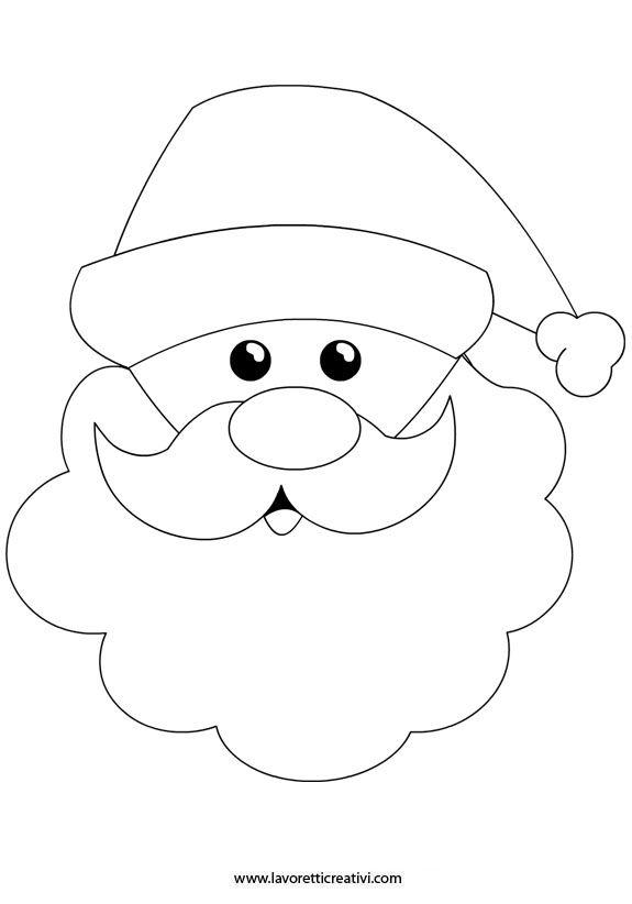 babbo-natale-sagoma | navidad | Pinterest | Navidad, Molde y Patrones