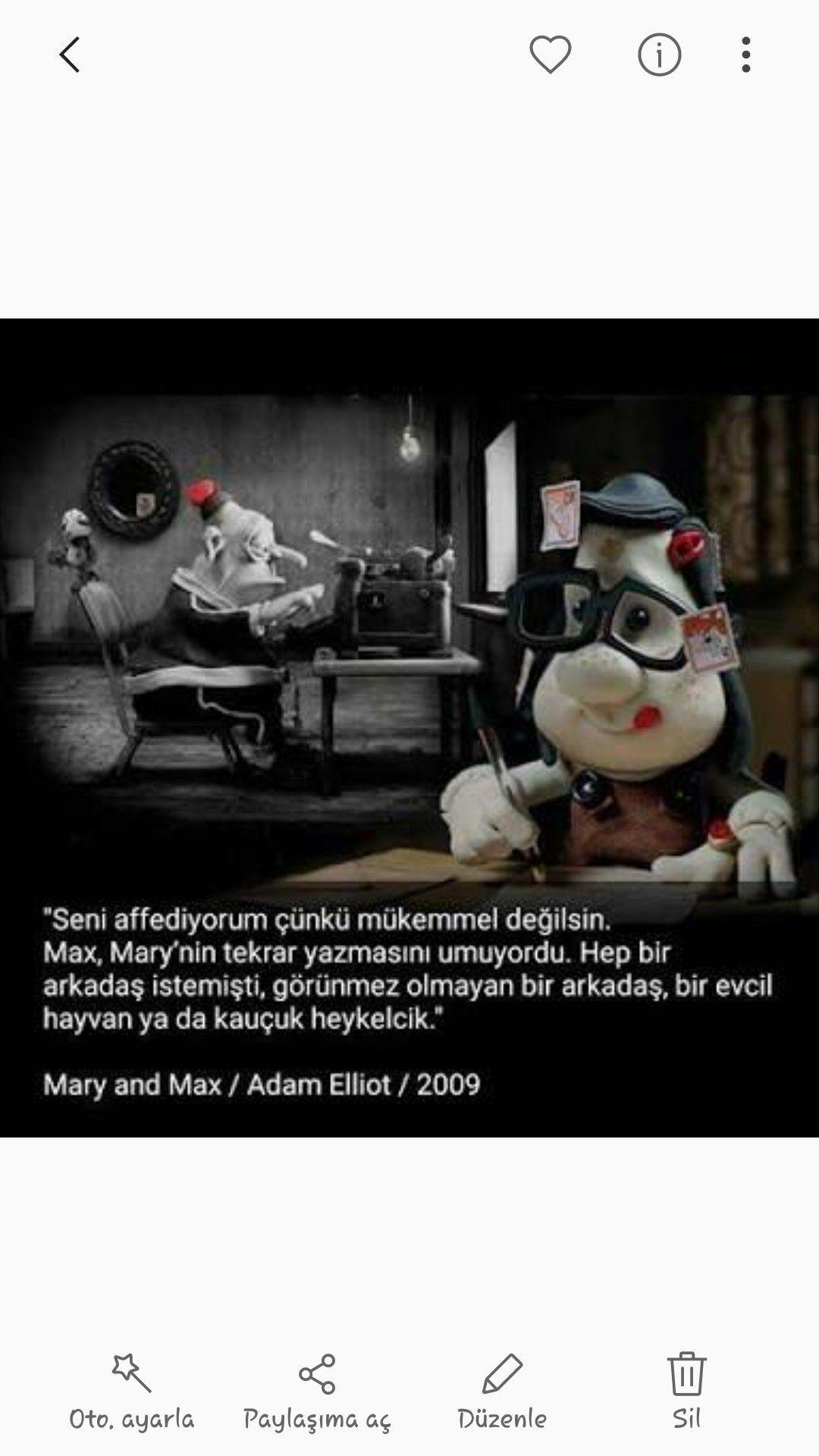 Mary ve Max Hayvan, Evcil hayvanlar, Alıntılar