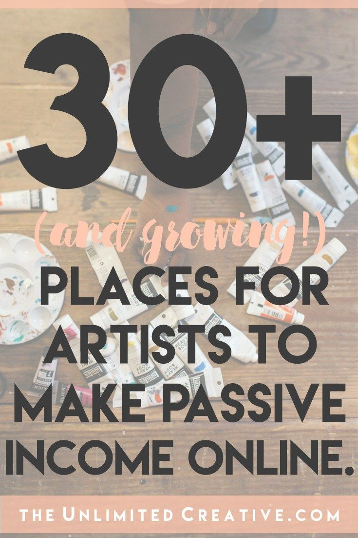 Arte Online 30 Places For Artists To Make Passive Income Online Etsy For