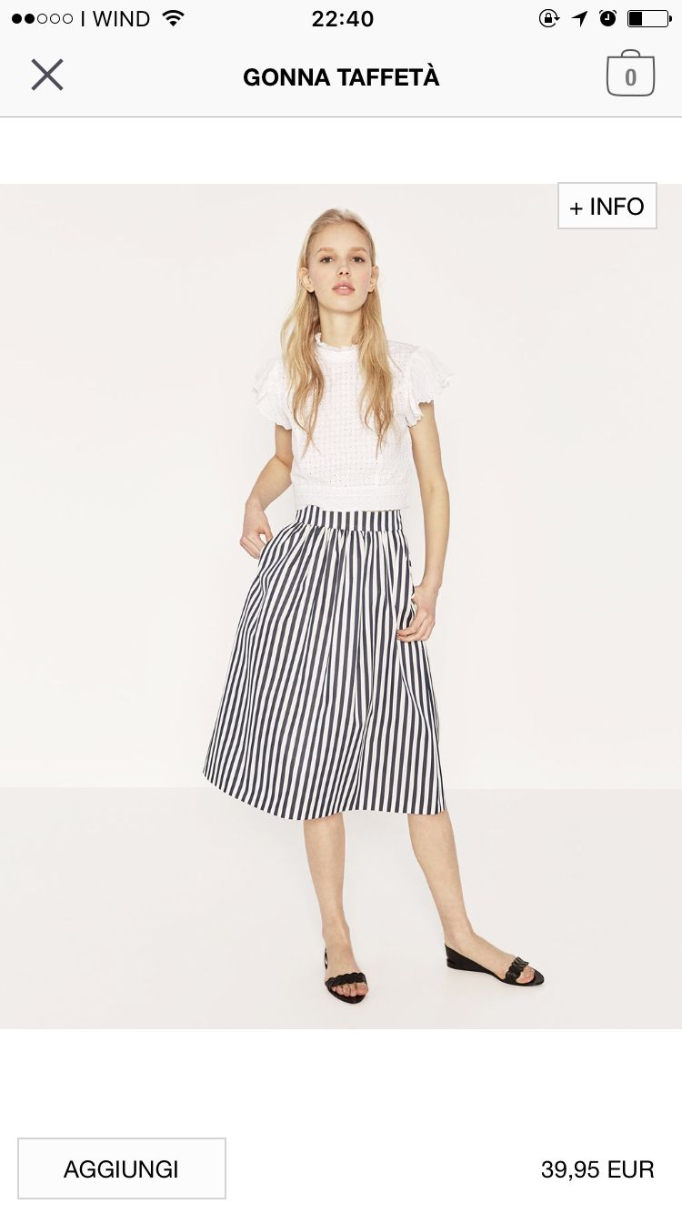 Zara SS16 - striped full skirt