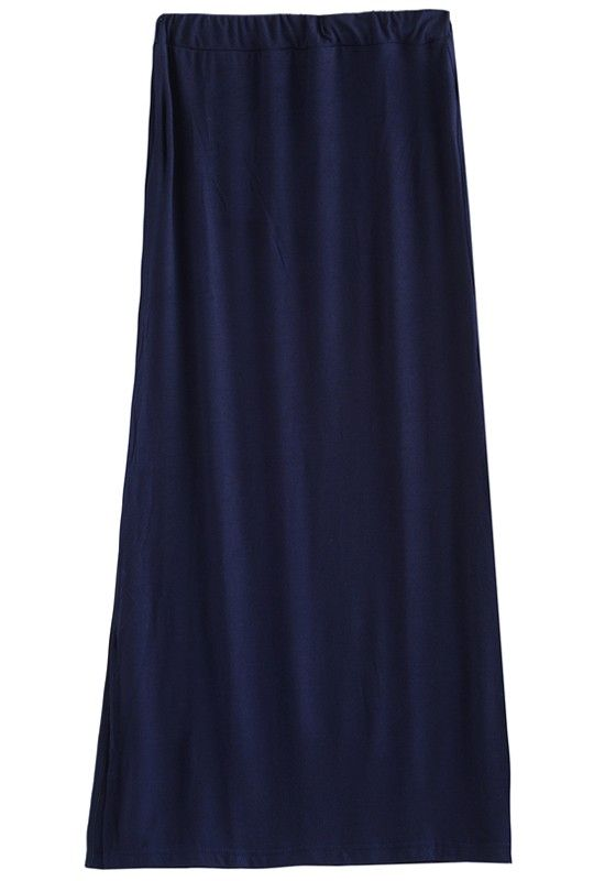 Long Dark Blue Skirt