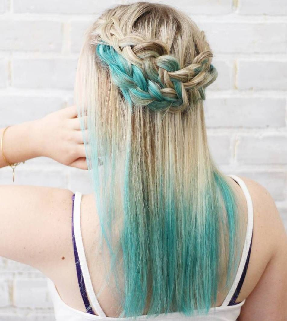 40 Fairy Like Blue Ombre Hairstyles Hair Dye Tips Blue Tips Hair Blonde Hair With Blue Tips