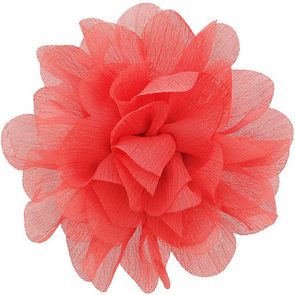 Coral chiffon flower corsage ($9) ❤ liked on Polyvore featuring flowers, fillers, flower fillers, accessories, jewelry and women