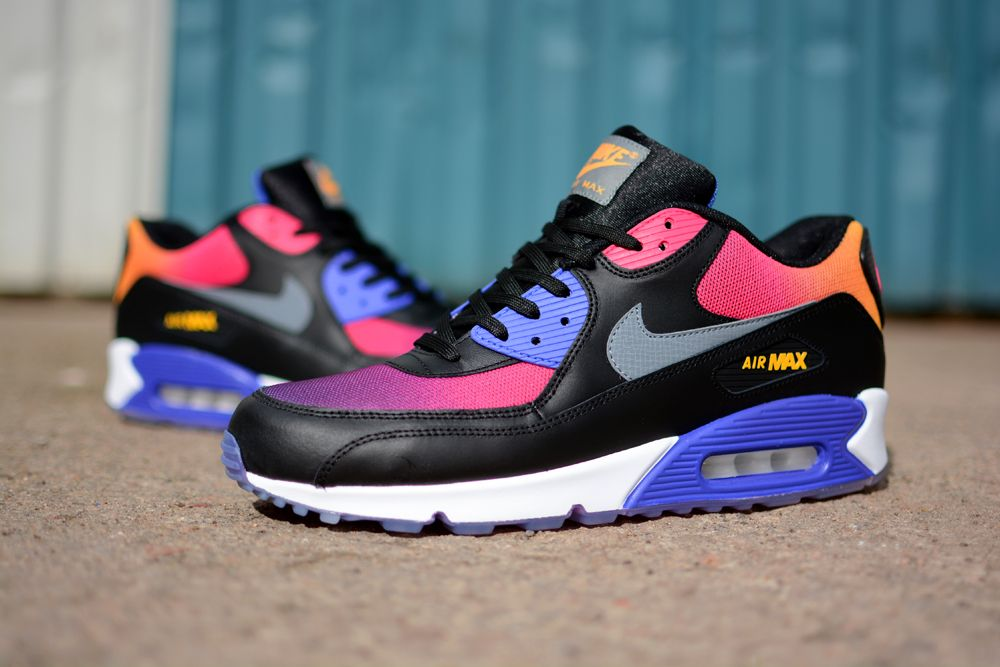 Nike Air Max 90 Black Rainbow Mens Trainers