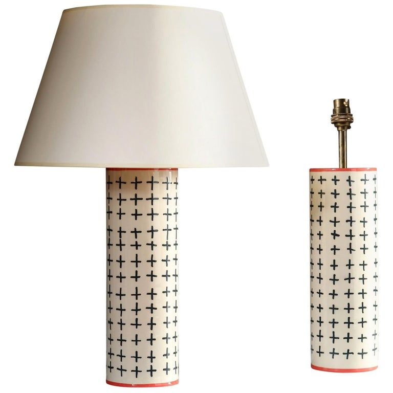 Pair Of 1stdibs Table Lamps - Studio Pottery Lamps Black Decoration English Contemporary Ceramic