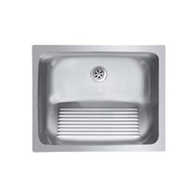 Single Basin Stainless Steel Dual Mount Laundry Sink With