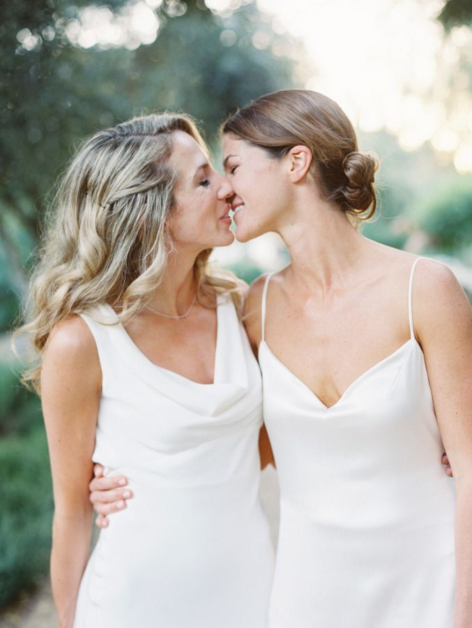 The Mrs. & Mrs. Blog | Lesbian wedding | Pinterest | Küsse