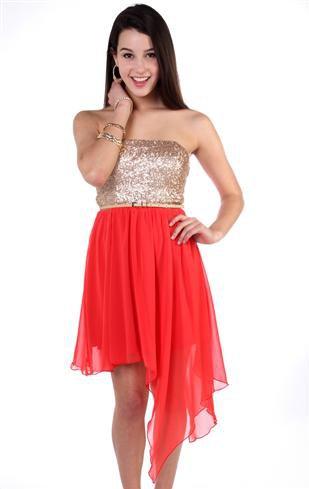 Deb Shops #Skirt #strapless #sequin #bodice #short #prom #dress ...