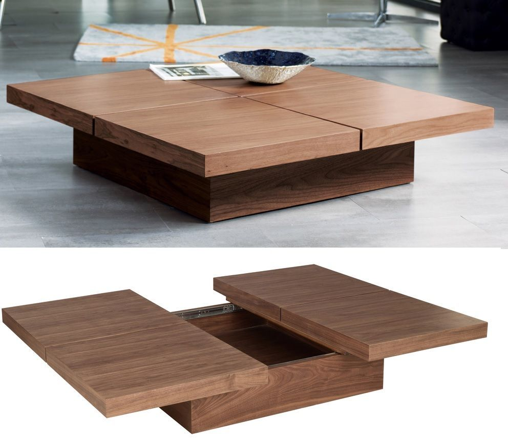 Stylish Coffee Tables That Double As Storage Units Square Wood
