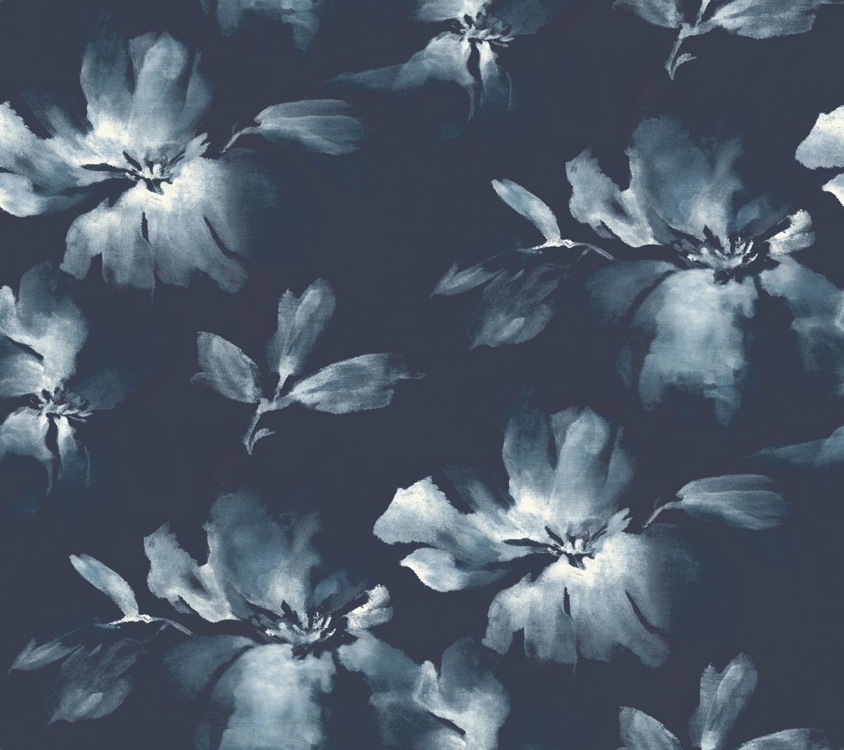Navy Floral by crystal_walen Beautiful hand painted