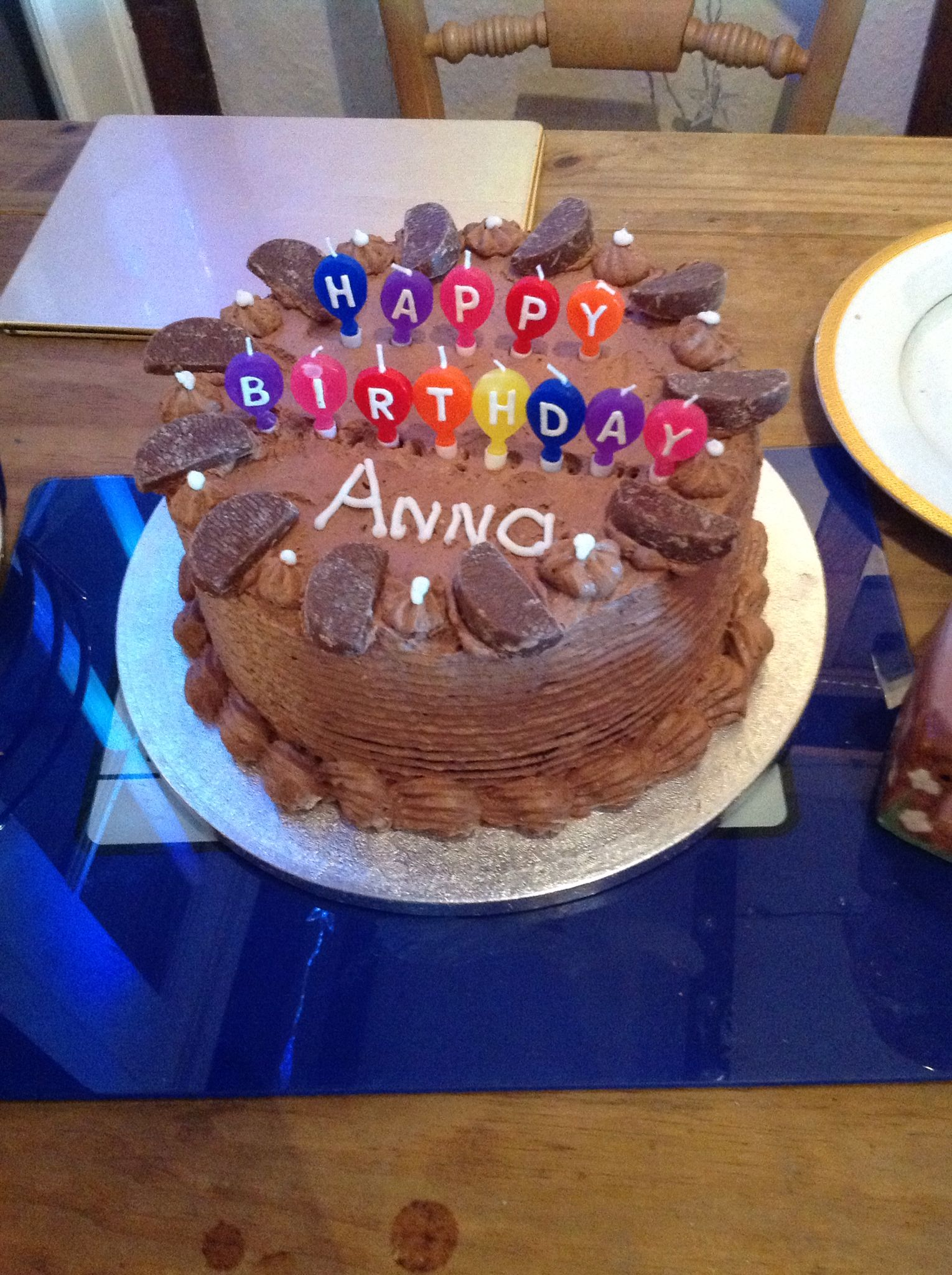 Chocolate orange birthday cake