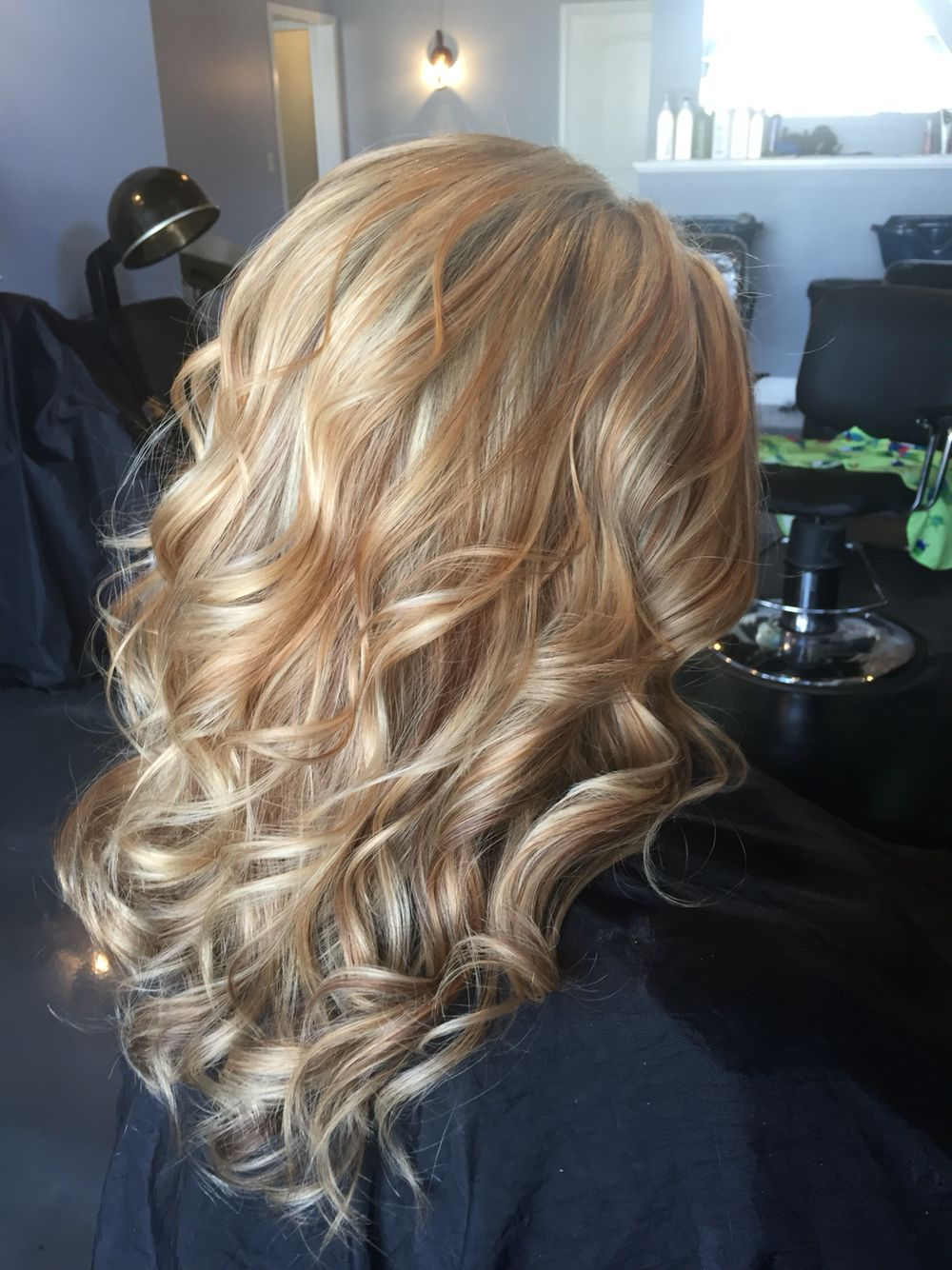 White Blonde Highlighted With Warm Caramel And Coffee