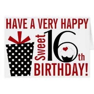Happy Sweet 16 Birthday Images 16th Birthday Card Happy Birthday Sweet 16 16th Birthday