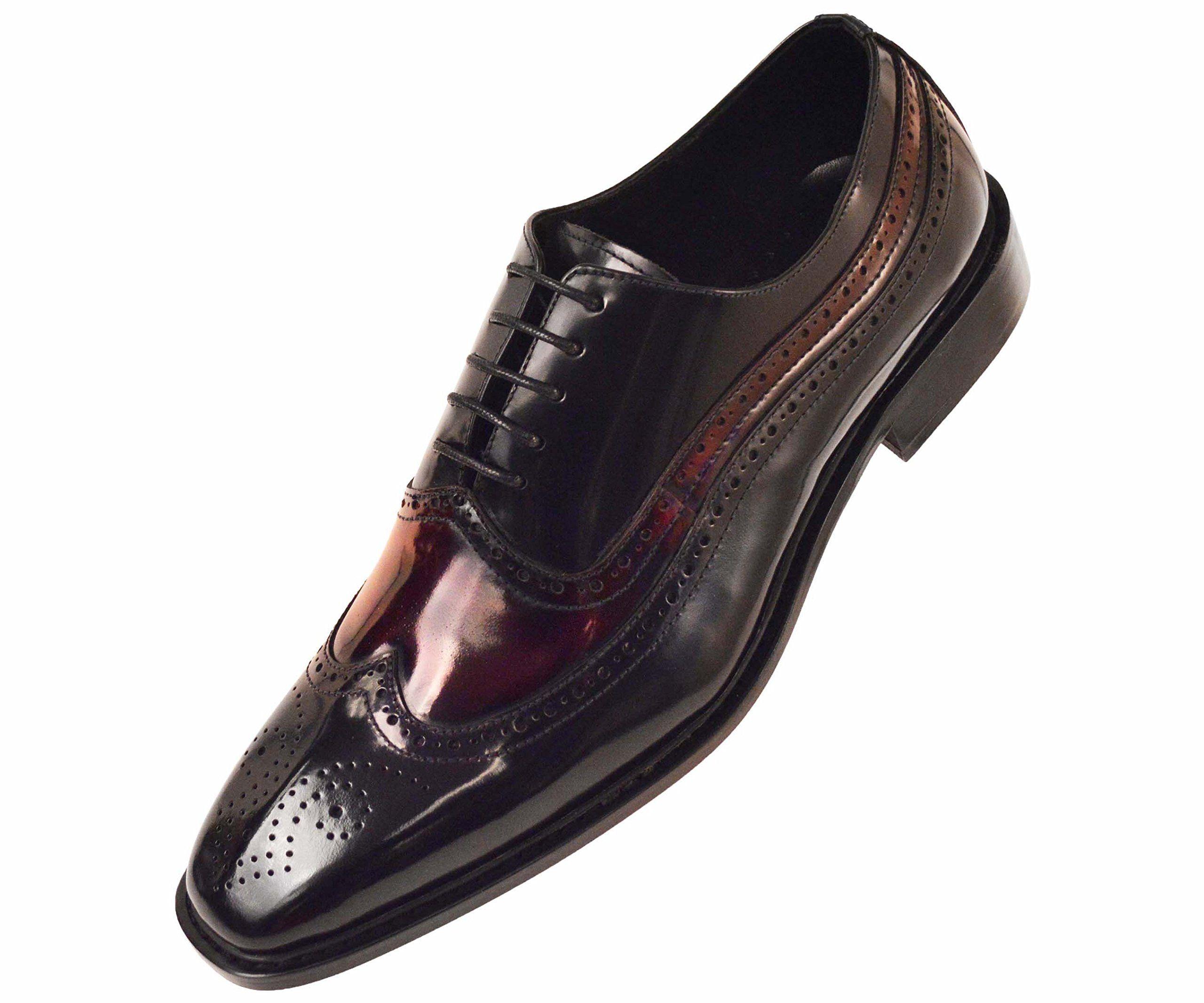 b23509933bbfe Burgundy And Black Mens Dress Shoes | Saddha
