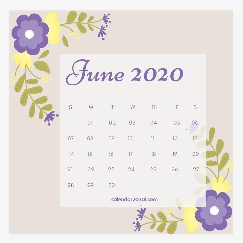 Floral 2020 Monthly Calendar Printable Template Calendar