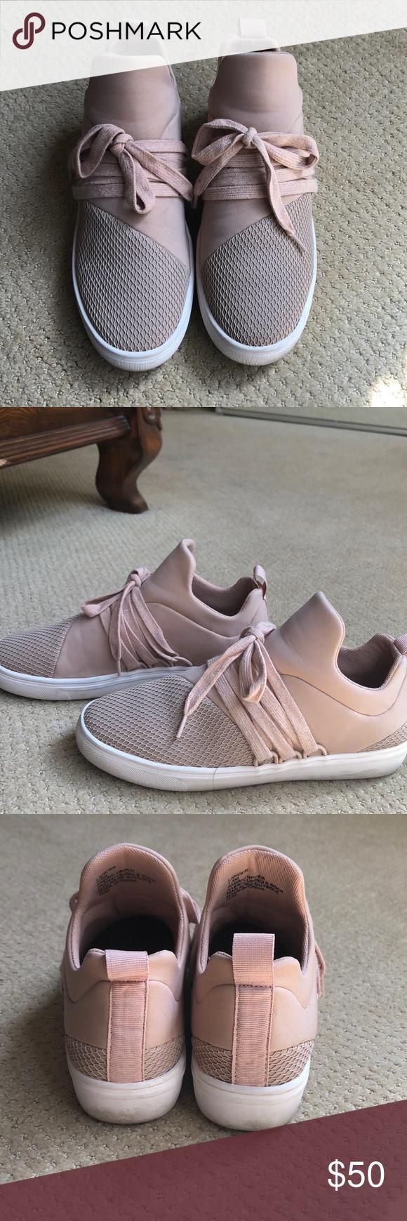 Steve Madden light pink sneakers size 7