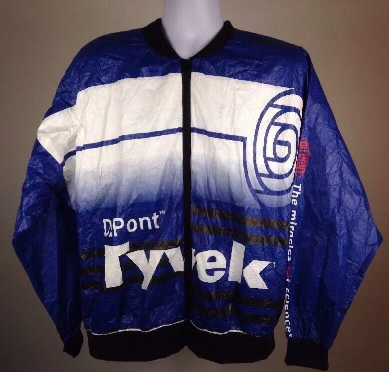 0d847e910 Vintage Dupont Tyvek Windbreakers Running Triathlon Jackets XXL ...