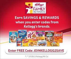 Free Kellogg S Family Rewards Codes Free Printable Grocery