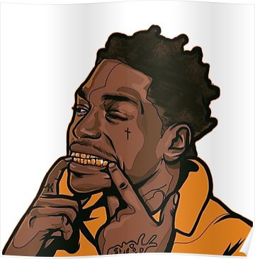 X551 Kodak Black Face Tattoo Rapper Music 12x8 40x27 Hot Wall Poster