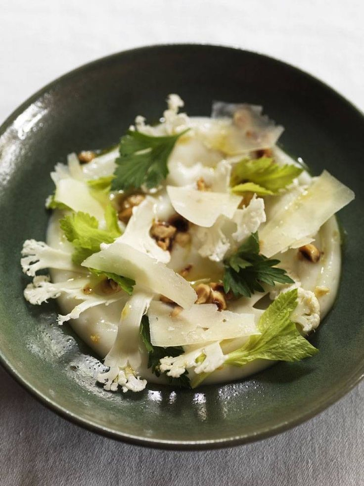 Cauliflower Salad with Good Queen Maude and Hazelnuts, Mark Hix