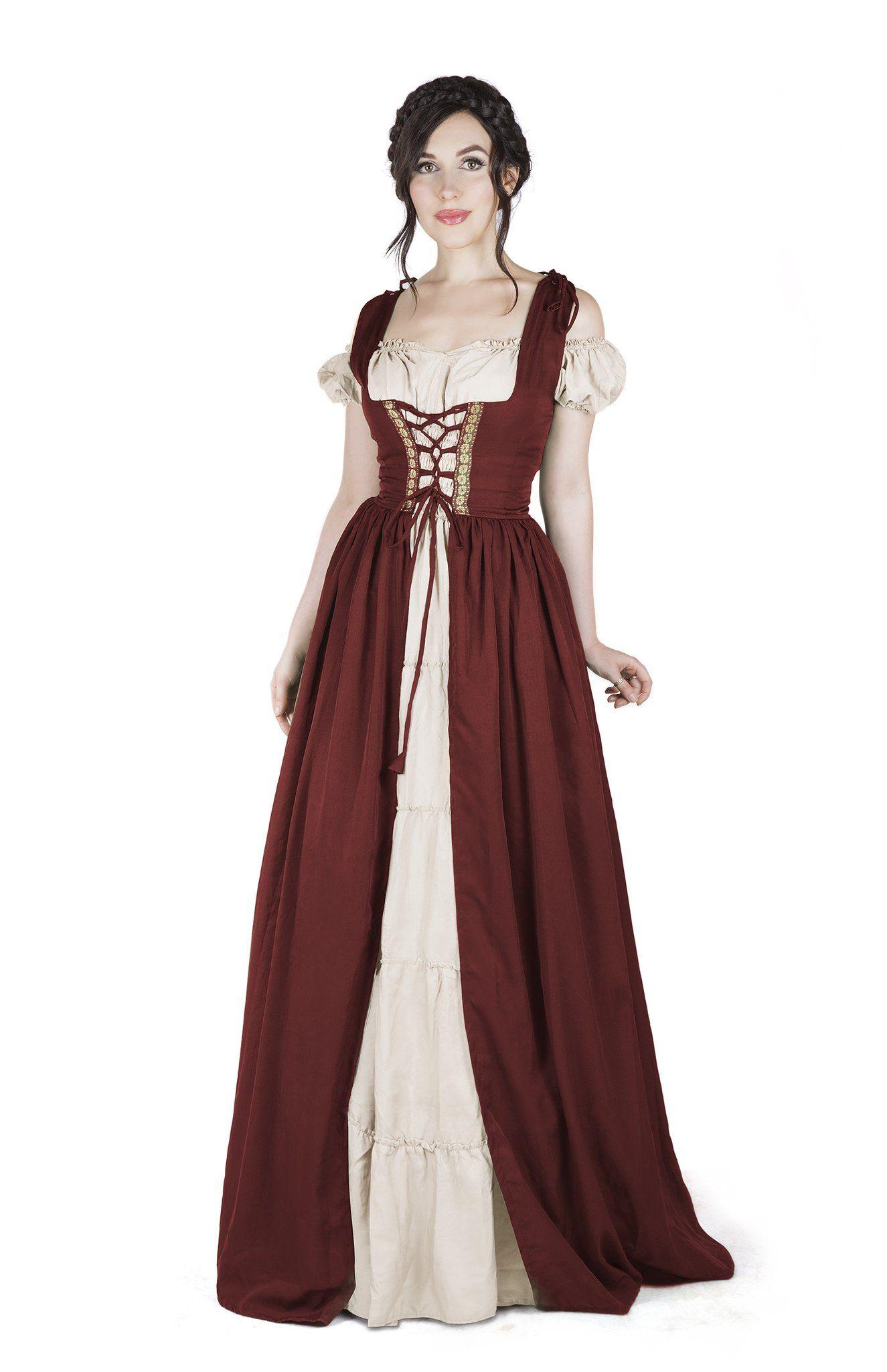 Cotton Renaissance dresses, Medieval dress, Irish costumes