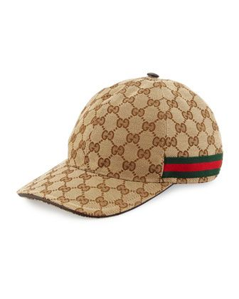 2c228107362 Gucci satin baseball cap in classic GG print. Paneled crown with top  button. Adjustable web-trim hat band. Polyester cotton. Made in Italy.