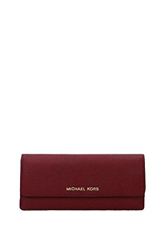 a79011a4f99bfe MICHAEL MICHAEL KORS Jet Set Travel Slim Saffiano Leather Wallet  (Cherry/Gold) >>> Want to know more, visit