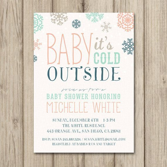 Winter Baby Shower Invitation It