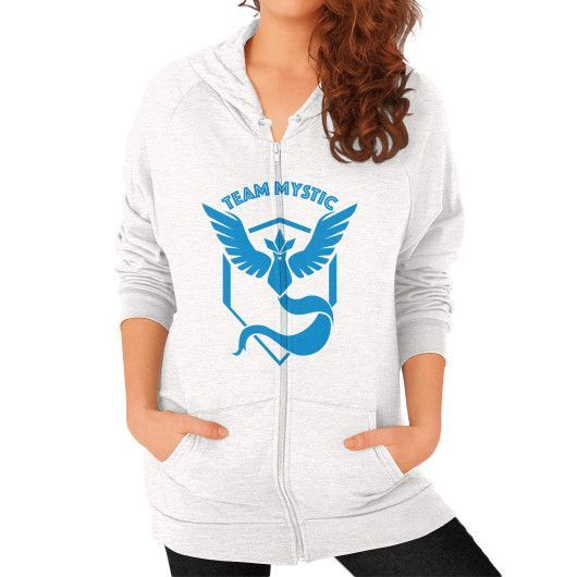 Team Mystic shirt pokemon go Zip Hoodie (on woman) Shirt