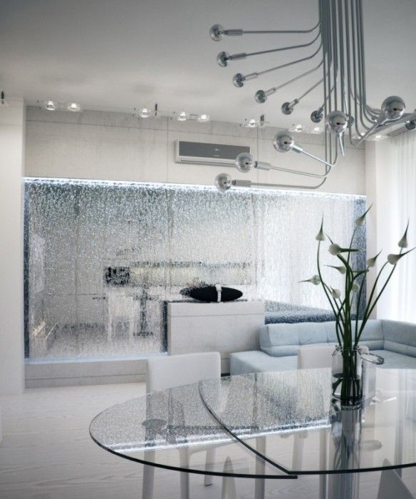 Porta un look minimalista e moderno. Parete Cascata D Acqua Interior Design Living Room Interior Design Interior