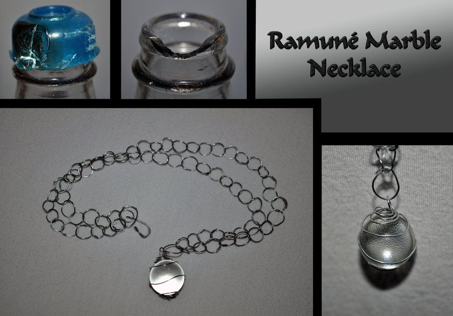 Ramune Marble Art Marble Necklace Bottle Crafts Marble Art