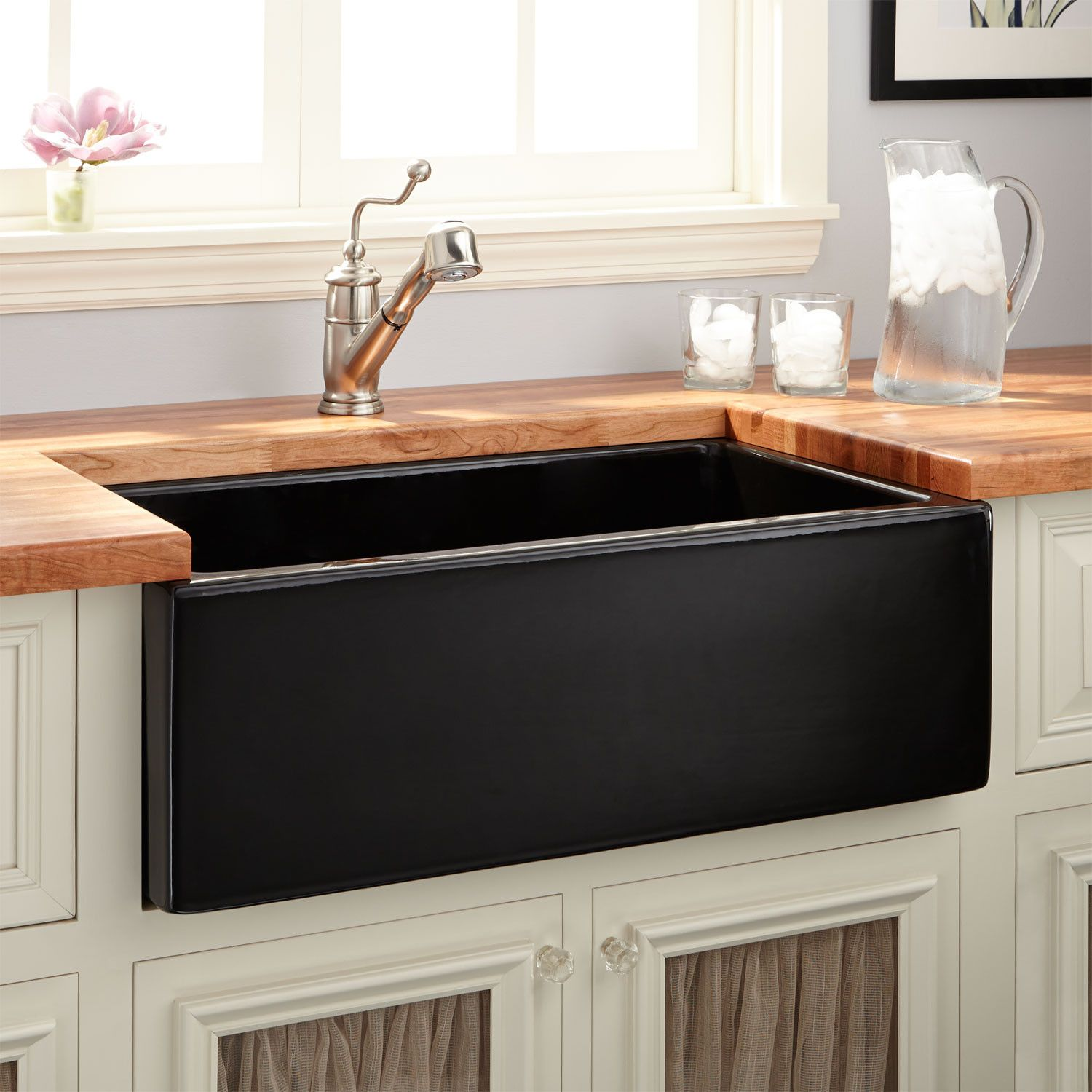 30 mitzy fireclay reversible farmhouse sink smooth apron