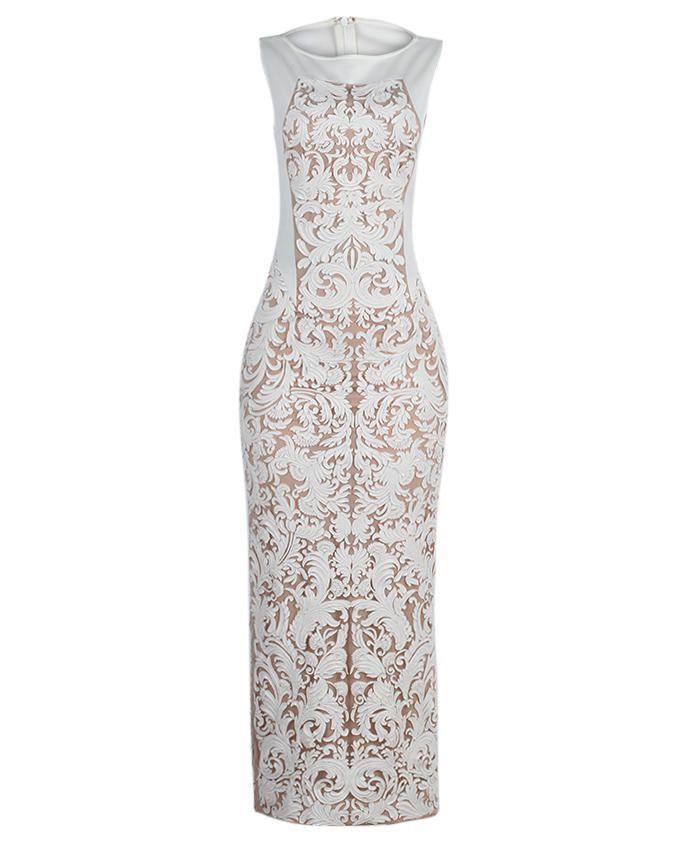 dbc57cbe62d6 Poosh Long Net Dress With Cutwork | Buy online | Jumia Nigeria ...