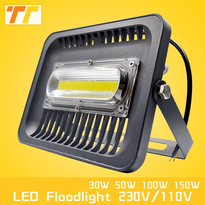 Led Flood Light 100w 50w 30w Led Floodlight Ip65 Waterproof 220v 230v Led Spotlight Refletor Led Outdoor Lighting G Led Flood Lights Outdoor Lighting Led Flood