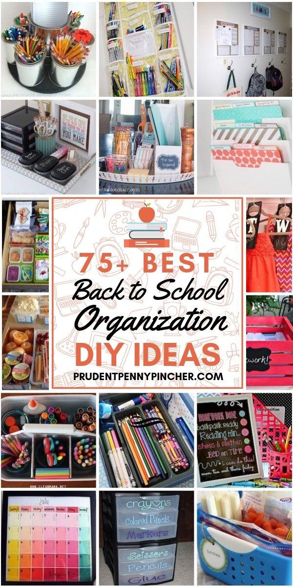 75 Back to School Organization Ideas #backtoschool