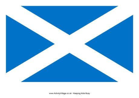 Scotland Flag Large Flag Printable Scotland Printable Activities
