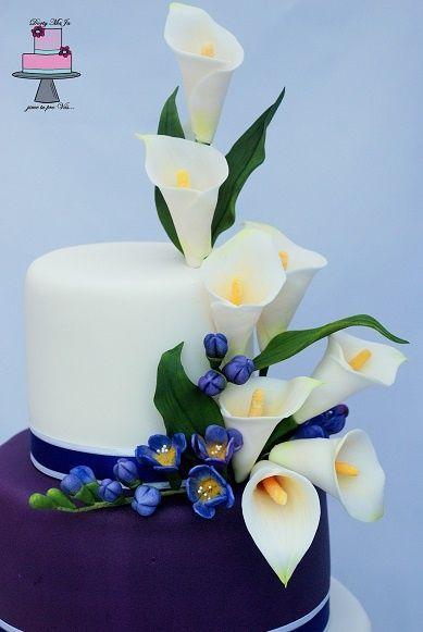Fowers Cake Calla Lily Wedding Cake Sugar Flowers Tutorial Flower Cake
