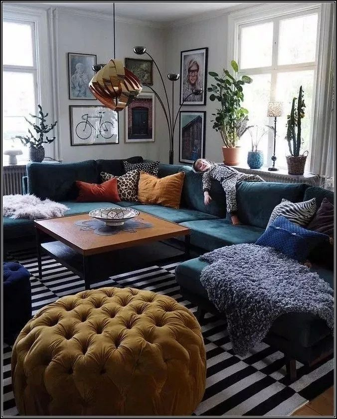 20 Creative Colorful Living Room Sofa Sets Design Ideas To Have Asap Eclectic Living Room Brown Living Room Decor Colorful Eclectic Living Room