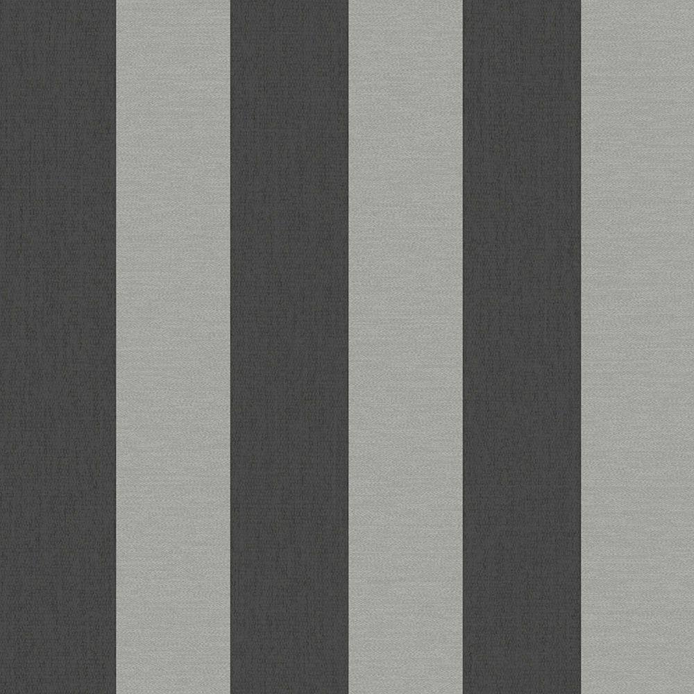 Ariadne Black/Grey Wallpaper Black and grey striped